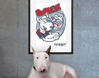 Bull Terrier Bulleye poster