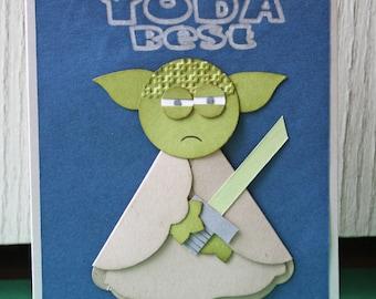 Star Wars Yoda Valentine Card