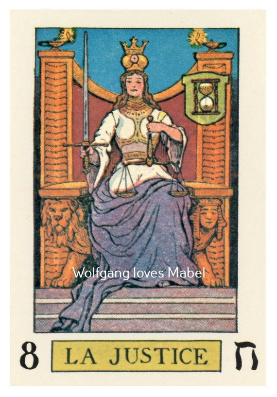 La Justice Justice Knapp-Hall French Tarot By
