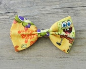 Spongebob, Spongebob Squarepants, Patrick, Kids Bow Tie, Cartoon Bowtie, Hairbow, Mens Bow Tie, Toddler Bow Tie, Hair Accessories