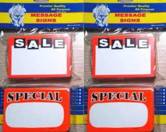 NEW 200 Retail Store Price Card Assortment:Sale/SPECIAL Price Signs PRICING Tags