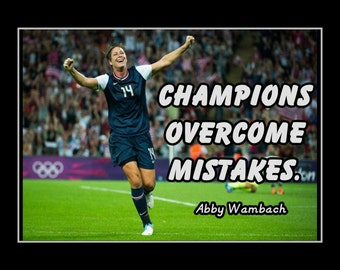 Items similar to Soccer Poster Abby Wambach Olympic Soccer ...