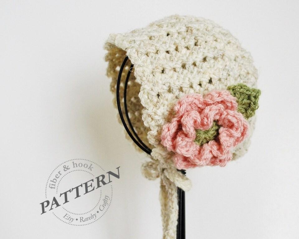 Crochet Shell Baby Bonnet Pattern : CROCHET PATTERN Petite Shells Baby Bonnet Baby Crochet