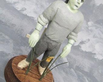 Frankenstein 1818 Sculpture in Hardwood