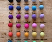 Design Your Own Felt Ball Garland // Choose your own colours