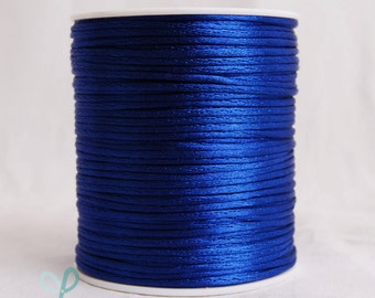 2mm x 100 yards Rattail Satin Nylon Trim Cord Chinese Knot - ROYAL BLUE