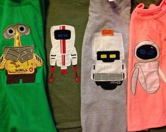 Kids T-Shirt Personalized Embroidered Wall-E Custom Design