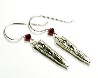 Vampire Slayer Silver Stake Earrings
