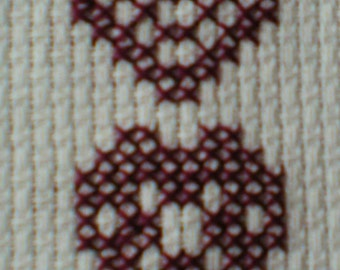 Hearts  Cross Stitch Bookmark Kit for Beginners