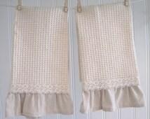 Rustic, Cottage Chic Towel Set
