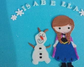 Frozen fondant cake topper. Princess Anna.