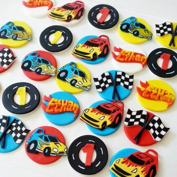 Cars Fondant Cupcake Toppers. Hot Wheels Cupcake Toppers