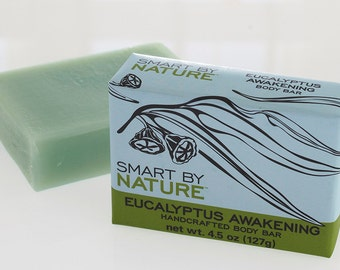 Eucalyptus Awakening Handcrafted Bar Soap with Essential Oils and Natural Plant Oils