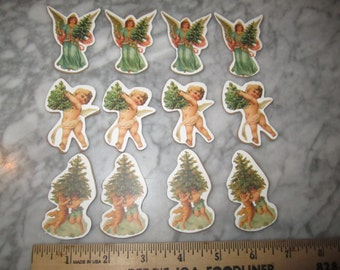 12 Victorian Wood Christmas Die-Cuts