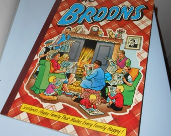 Childrens book the broons cartoon comic graphics Scotland happy family shabby chic collectible fiction novel