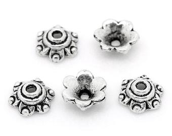 Tibetan Silver Bead Caps - 6MM