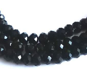 Treble Black beaded necklace