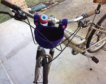 Crochet Basket for bike, Carrier for Bicycle//Bicycle Basket //Cute Basket//