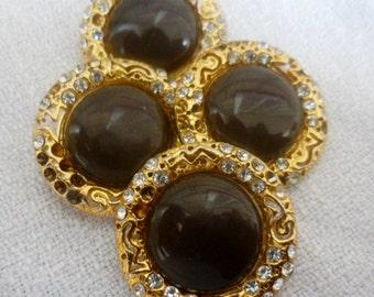 Gold button- blazer /coat/suit metal buttons, 4 pcs