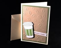 Thanks a Latte Card. A2 size card with envelope