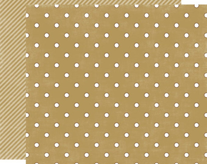 2 Sheets of Echo Park Paper DOTS & STRIPES HOLIDAY 12x12 Christmas Scrapbook Paper - Tinsel Small Dot