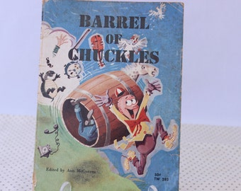 A Barrel of Chuckles, Edited by Ann McGovern, 1969, Vintage Children's Book, Vintage Picture Book