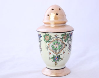 Hand Painted Art Deco Sugar Shaker, Lusterware Sugar Shaker, Made in Japan Sugar Shaker