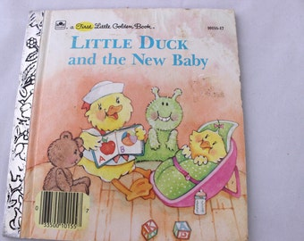A First Little Golden Book, Little Duck and the New Baby by Stephanie Calmenson, 1988, Vintage Picture Book, Vintage Children's Book