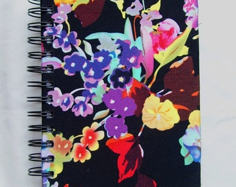 Colorful Floral Fabric Notebook