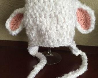 Crochet Lamb Hat