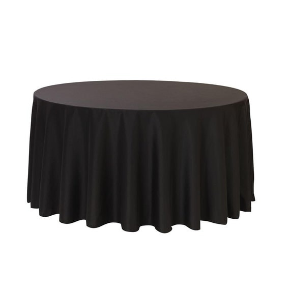 108 inch round polyester tablecloth black wedding for 108 round table cloth