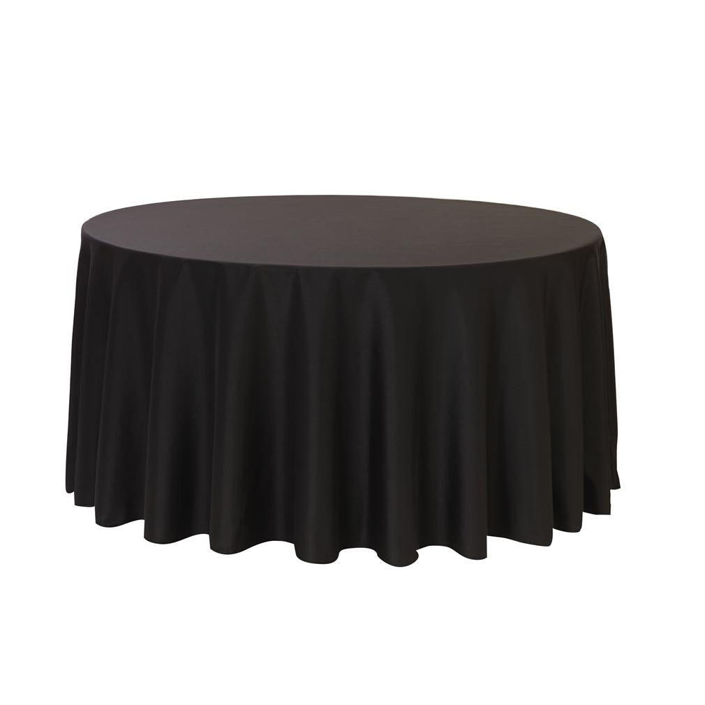 108 inch round polyester tablecloth black wedding