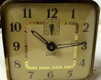 Vintage Alarm Clock - 1960s CHIEF Wind Up - Hard to Find