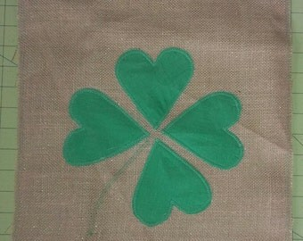 St Patrick's Day Four Leaf Clover outdoor decorative flag