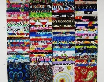 "120  Assorted precut charm pack 4"" squares 100% cotton fabric quilt scrap"