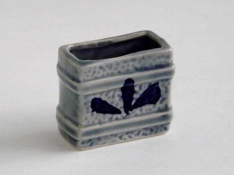 Free shipping vintage toothpick holder blue by - Toothpick holder for purse ...