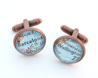 """Shop """"copper gifts for men"""" in Cuff Links & Tie Clips"""