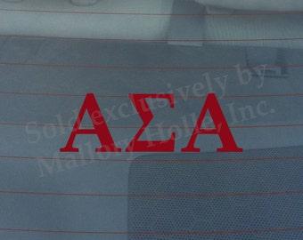 "Officially Licensed Alpha Sigma Alpha 8"" x 3"" ASA Bumper Sticker / Window Decal"
