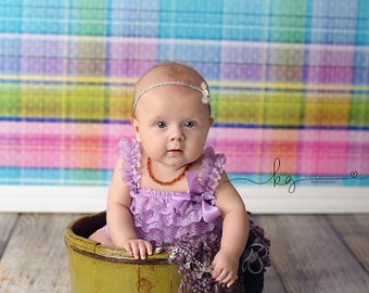 3ft x 3ft Pastel Photography Backdrop - Plaid Photo Backdrop - Spring or Easter Backdrop Photo Prop - Item 1417