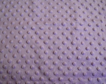Lavender Blankie with Polka Dots