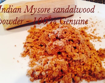 Indian Mysore Sandalwood powder  - I hand grind from Original sandalwood sticks- for cystic acne- 100 % Genuine pure Natural premium grade