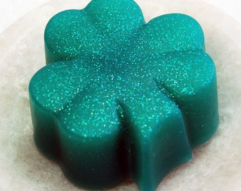 Shamrock Soap, St. Patrick's Day, Spring Soap, Green Bath Decor, Saint Paddy's Day, Irish Holiday,  Palm Free, Vegan Soap, Gift Soap