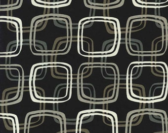Don't Be a Square in Black by Michael Miller Fabrics