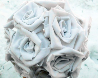Rose Bouquet, Cotton Roses, Rustic Wedding Bouquet, Wedding Bridal Bouquet, cotton bouquet, rose centerpiece, rustic wedding decor, roses