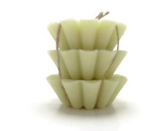 3 Scented Soy Tart Melts - Honeydew Melon, Wedding, Housewarming, Birthday, Shower Favor, Gift Under 10