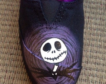 Hand painted Jack Skellington shoes. Nightmare Before Christmas.
