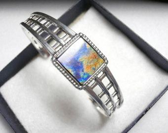 Ammolite Bracelet - Cuff Style