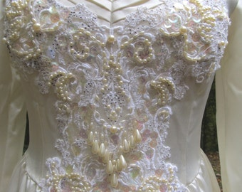 SALE - SALE -Beautiful Vintage Custom Made Wedding Gown by Christine Blumish