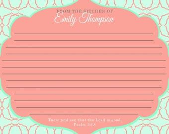 Personalized Recipe Card Pad