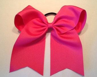 Raspberry Rose Cheer Bow Cheap Cheer Bow, Basic Cheer Bow, 3 Inch Cheer Bow, Texas Sized Bow, Team Discounts